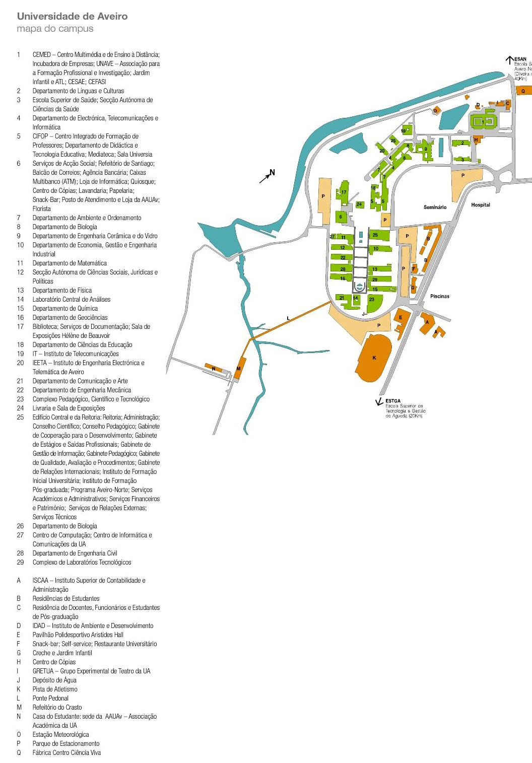 Mapa do Campus - Aveiro